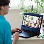 Individual on virtual meeting