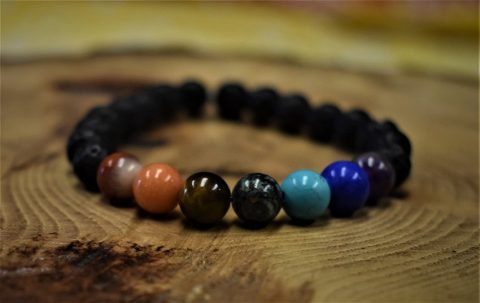Serenity bracelet with varying bead colors